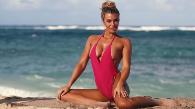 Samantha Hoopes Wears a Sexy One piece