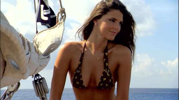 SI Swimsuit model Daniella Sarahyba dresses as a pirate