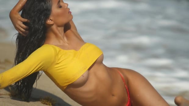 Anne de Paula Goes Topless On The Most Secluded Beach In Nevis