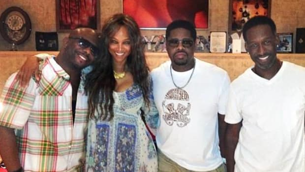 Tyra Banks with Boyz II Men
