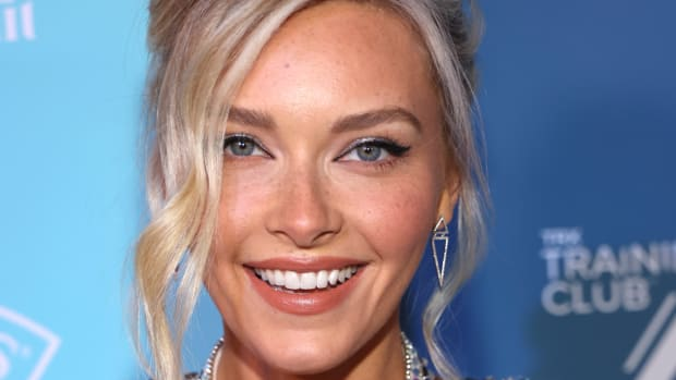 Camille Kostek attends the Sports Illustrated Swimsuit celebration of the launch of the 2021 Issue at Seminole Hard Rock Hotel & Casino on July 23, 2021.