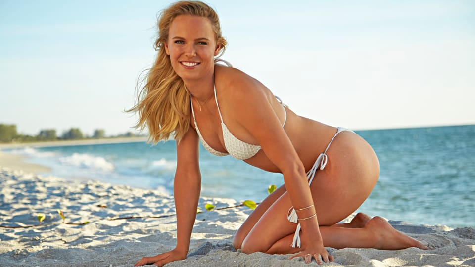 Caroline Wozniacki featured in SI Swimsuit Issue