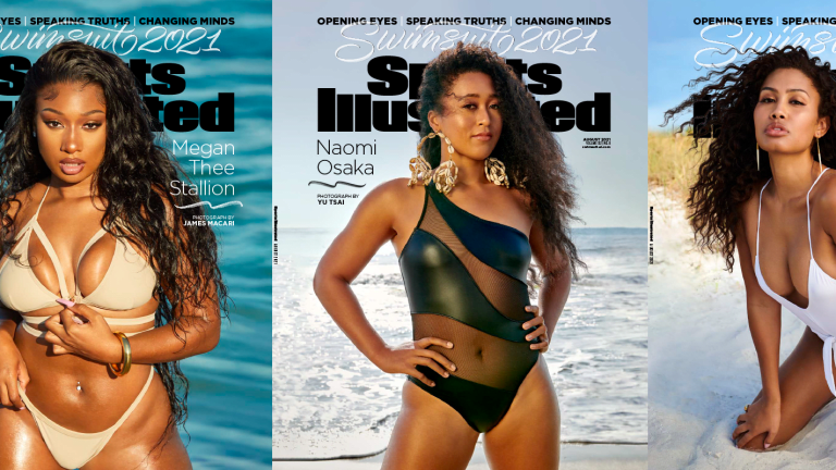 Your Sports Illustrated Swimsuit 2021 Cover Models Are Megan Thee Stallion, Naomi Osaka and Leyna Bloom