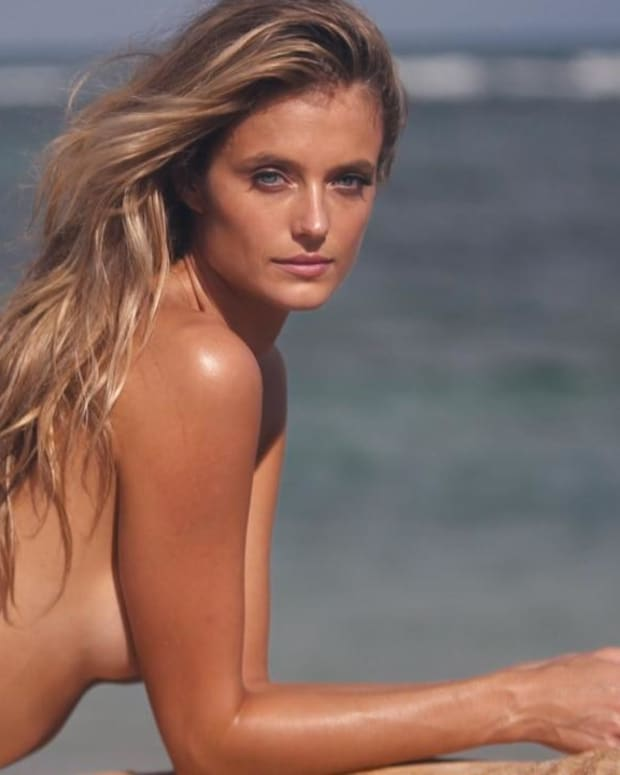 Kate Bock Works It in a Gold Swimsuit