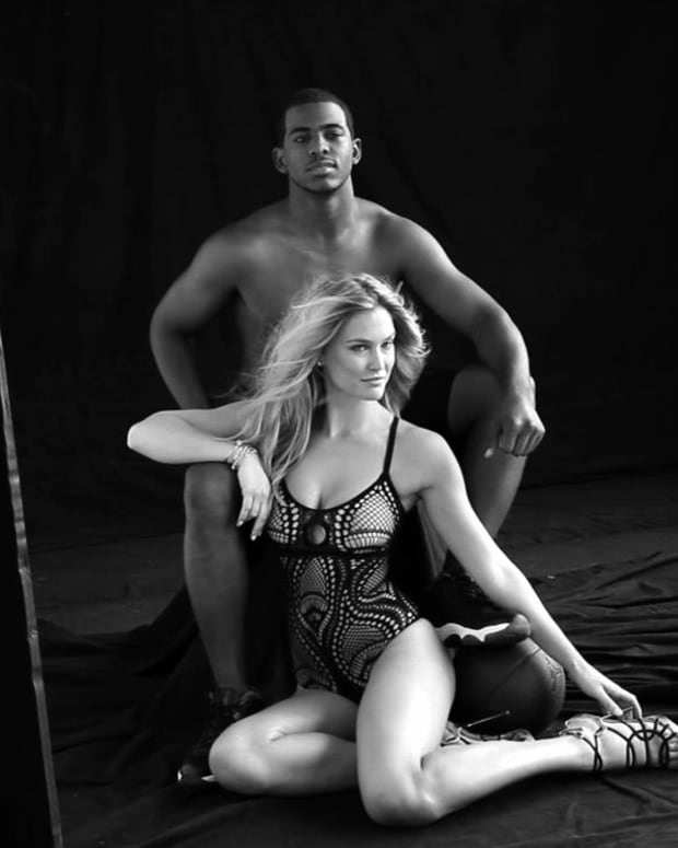 Bar Refaeli shoots with Chris Paul