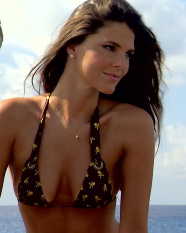 SI Swimsuit model Daniella Sarahyba dresses as a pirate