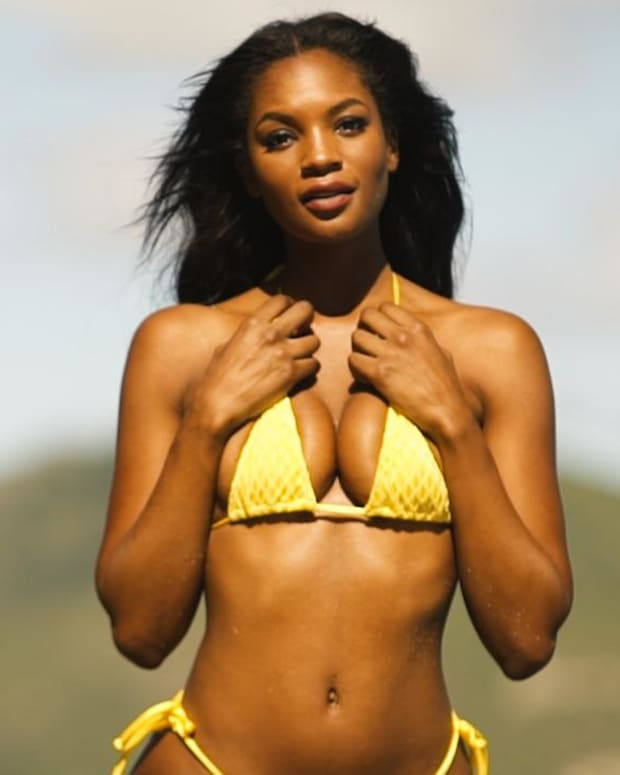 Jasmyn Wilkins is a Major Hottie on a Volcano in Nevis