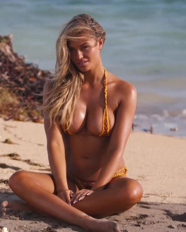 Samantha Hoopes wears the tiniest swimsuit you have ever seen