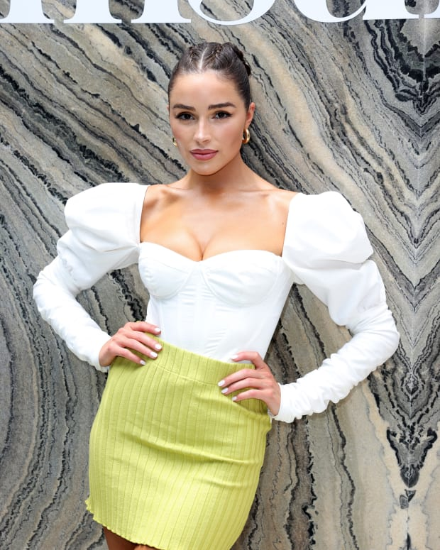 HOLLYWOOD, FLORIDA - JULY 23: Olivia Culpo attends the Sports Illustrated Swimsuit celebration of the launch of the 2021 Issue at Seminole Hard Rock Hotel & Casino.