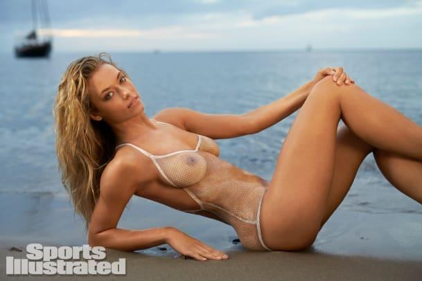 Hannah Ferguson 2014 Swimsuit body paint 7