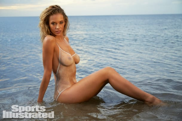Hannah Ferguson 2014 Swimsuit body paint 22