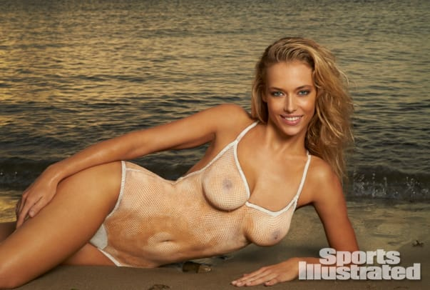Hannah Ferguson 2014 Swimsuit body paint 24