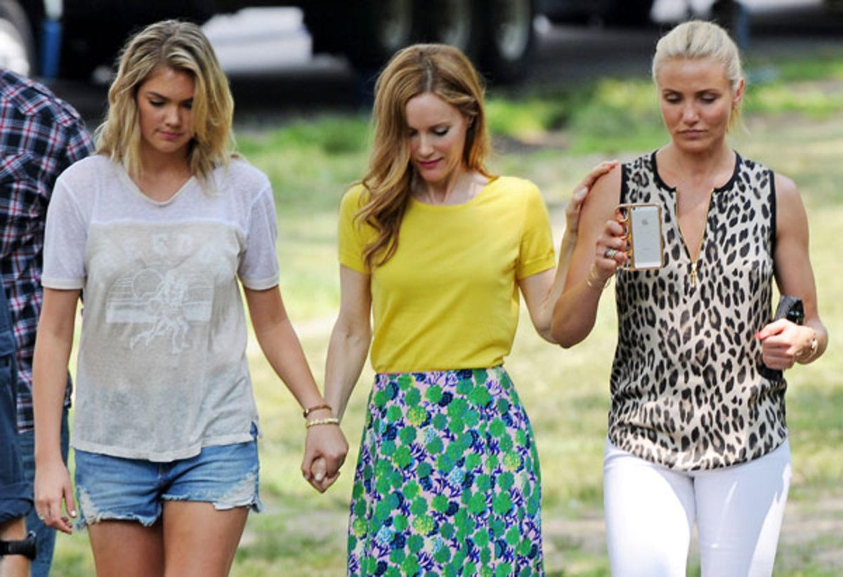 Kate Upton, Leslie Mann and Cameron Diaz :: James Devaney/Getty Images