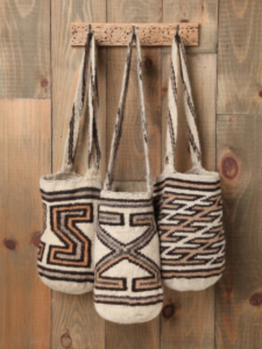 Mochilas are hand-woven bags from Colombia