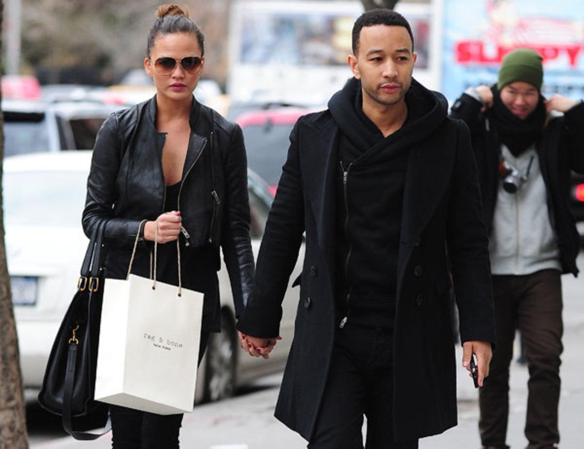 Chrissy Teigen and John Legend :: Alo Ceballos/Getty Images