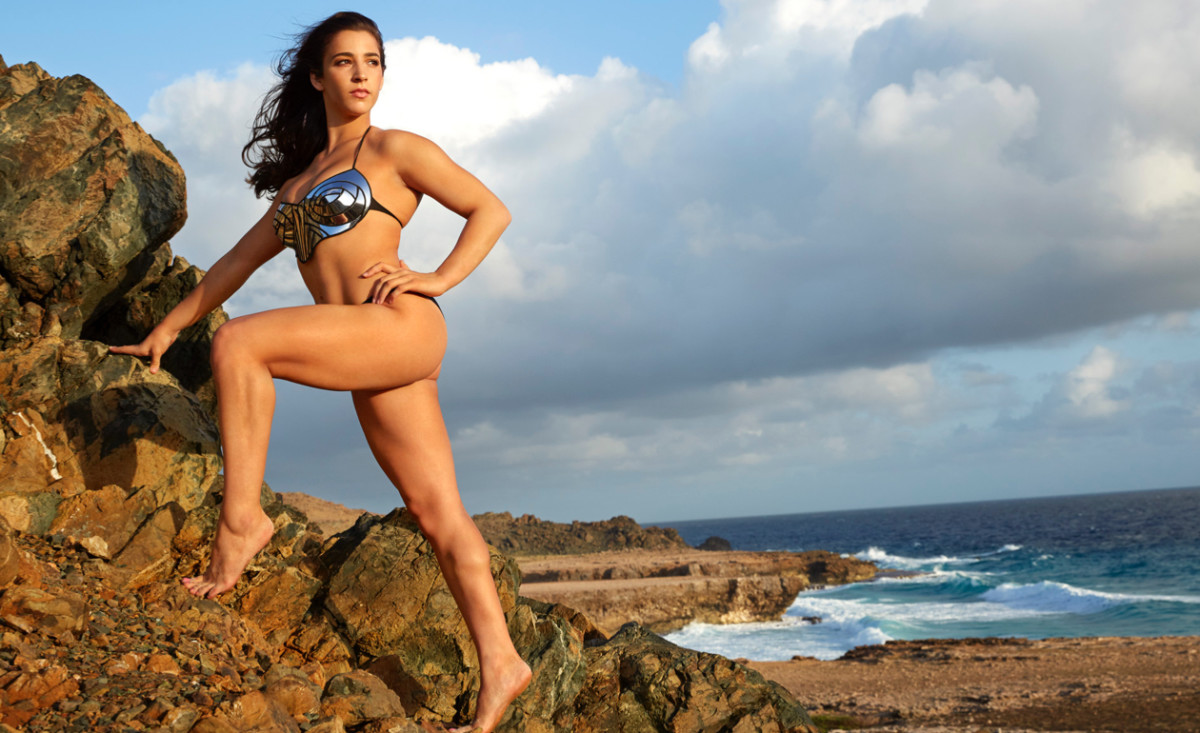Aly Raisman Discusses Role in SI Swimsuit 2018 - Swimsuit
