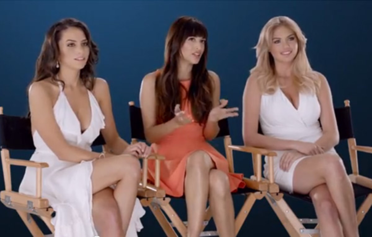 Genesis Rodriguez, Hannah Simone and Kate Upton appear for gillette