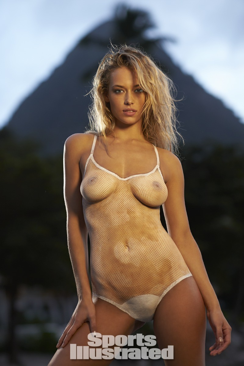 Hannah Ferguson 2014 Swimsuit body paint 17