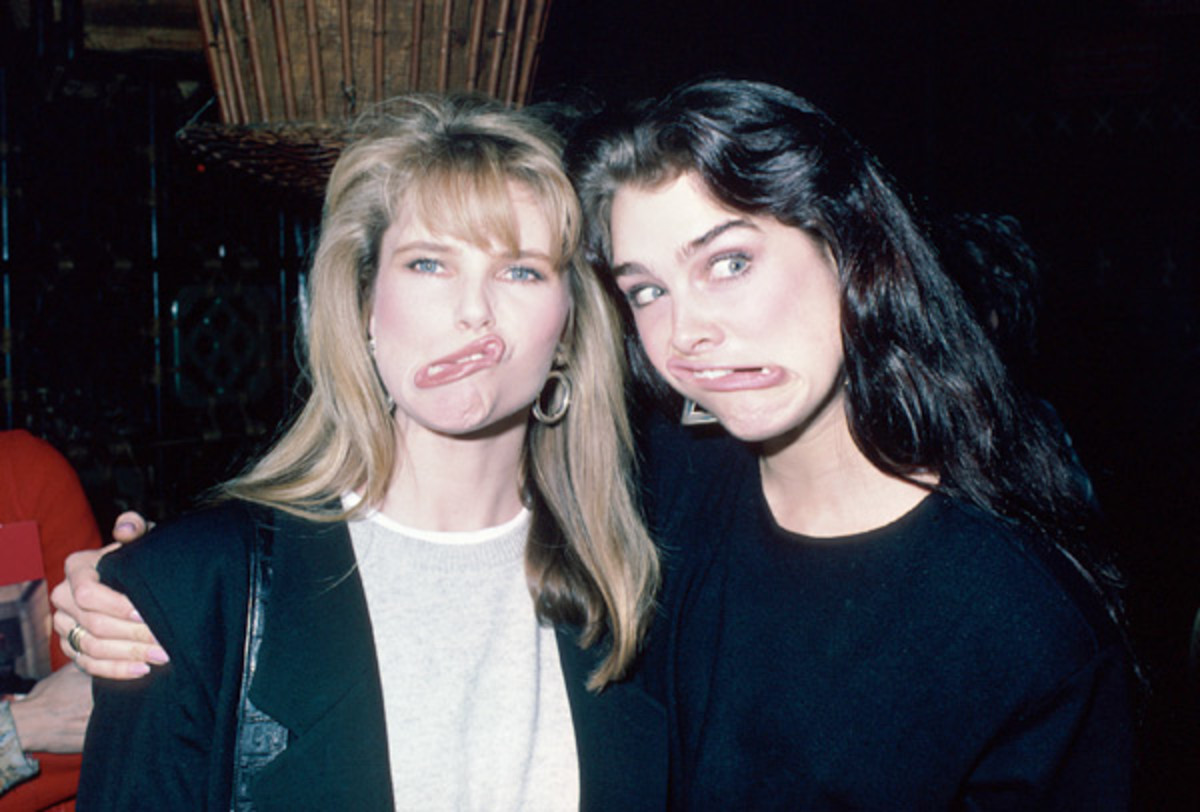 Christie Brinkley and Brooke Shields :: Ann Clifford/Getty Images