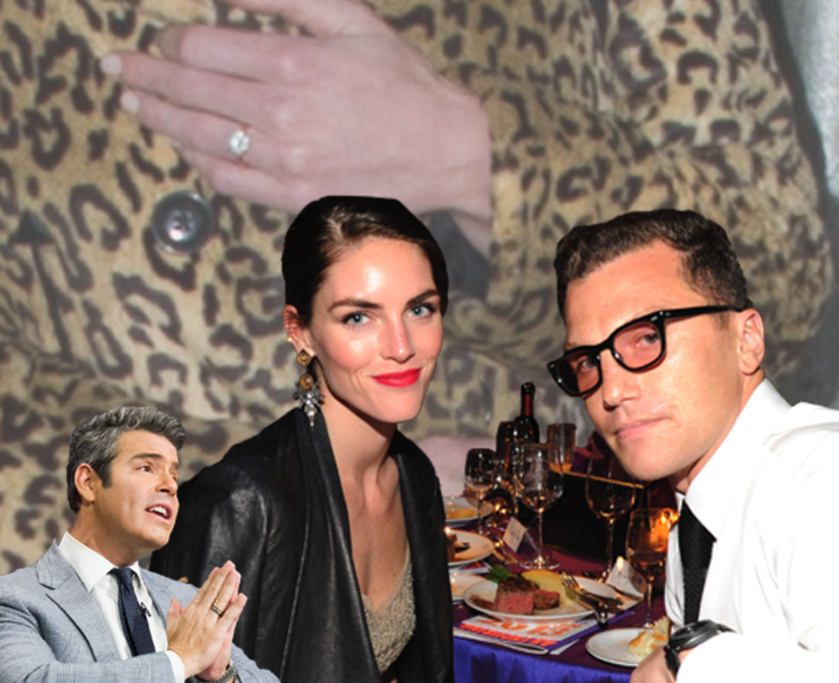 Andy Cohen :: Charles Sykes/Bravo/Getty Images | Hilary and Andy :: Kevin Mazur/WireImage | Ring :: Michael Stewart/WireImage