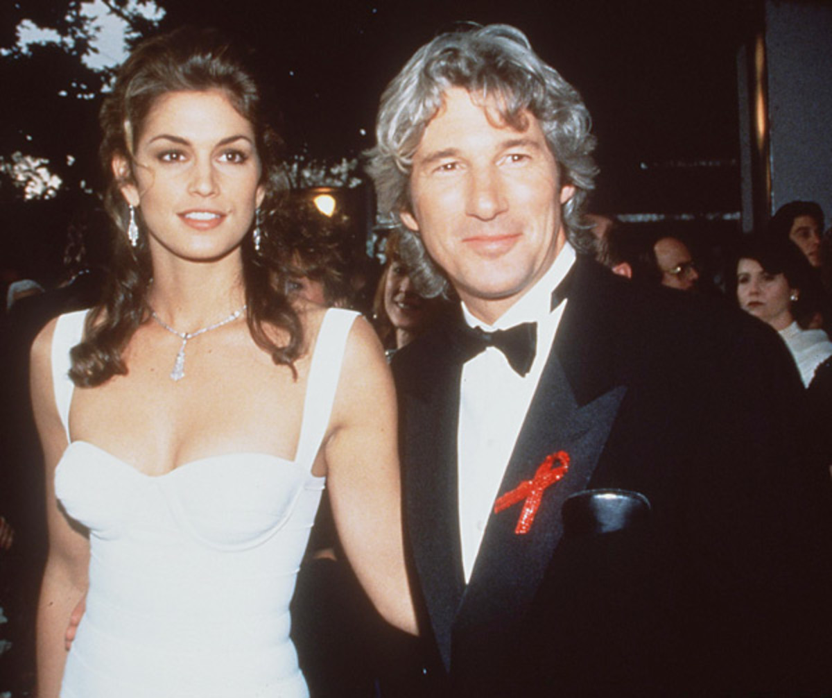Cindy Crawford and Richard Gere :: Brenda Chase/Getty Images