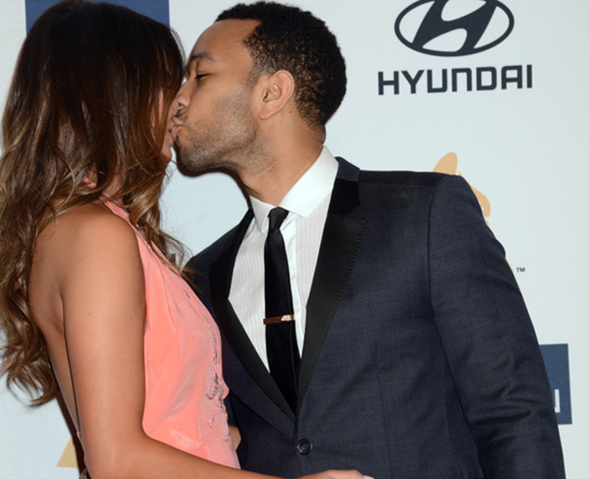 Chrissy Teigen and John Legend :: Jeff Kravitz/Getty Images