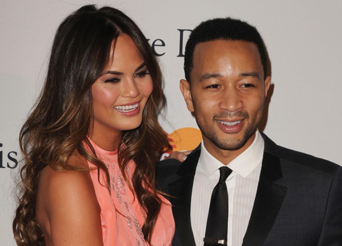 Chrissy Teigen and John Legend :: Jeff Kravitz/Getty Images