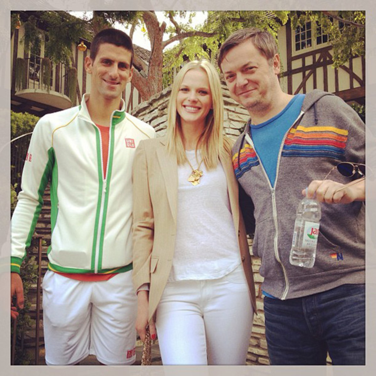 Novak Djokovic and Anne V :: @annev_official