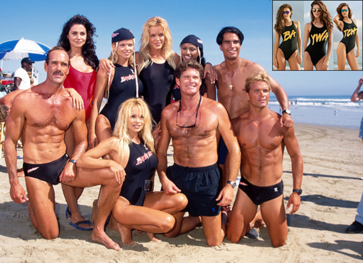 Baywatch cast (with insert of Emily DiDonato) :: Mirek Towski/Getty Images