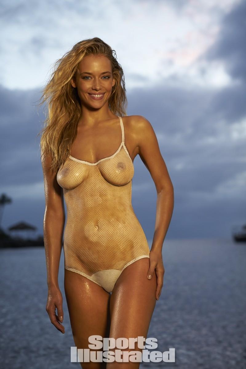 Hannah Ferguson 2014 Swimsuit body paint 19