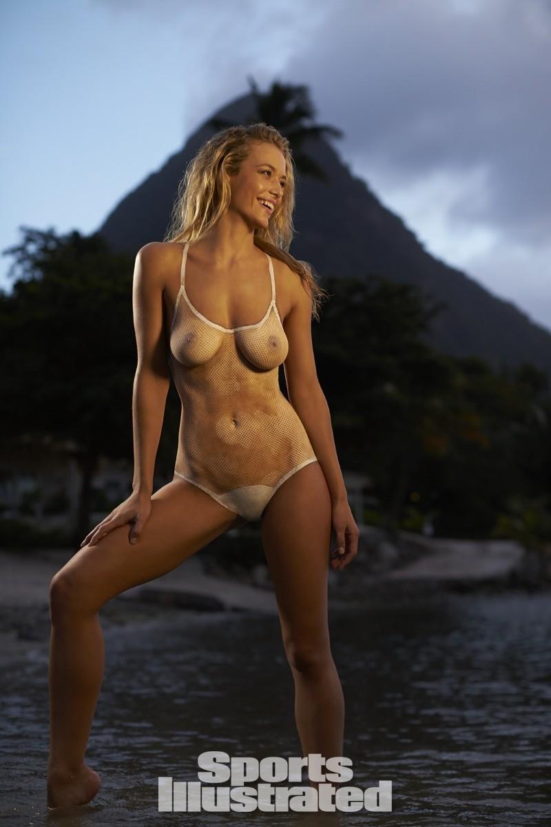 Hannah Ferguson 2014 Swimsuit body paint 15