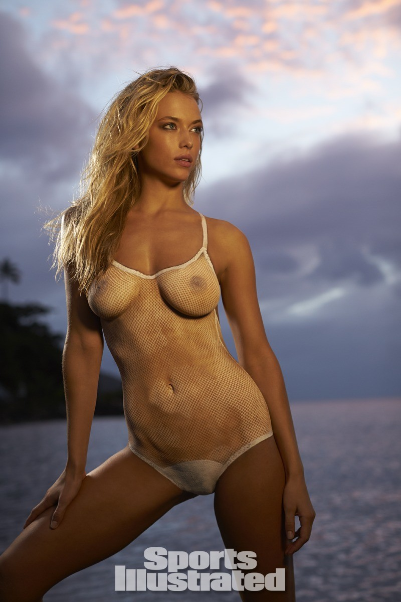 Hannah Ferguson 2014 Swimsuit body paint 8