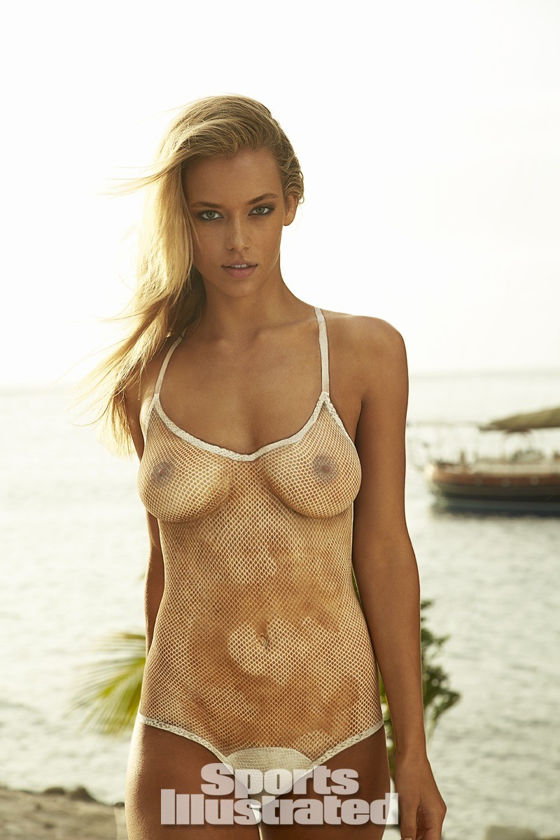Hannah Ferguson 2014 Swimsuit body paint 20