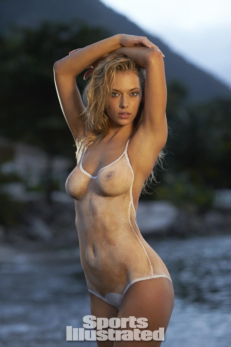 Hannah Ferguson 2014 Swimsuit body paint 3