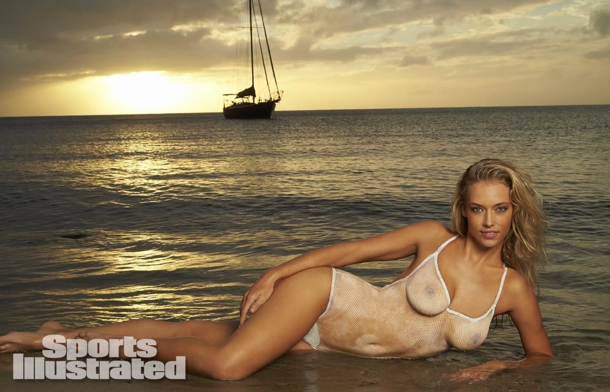 Hannah Ferguson 2014 Swimsuit body paint 11