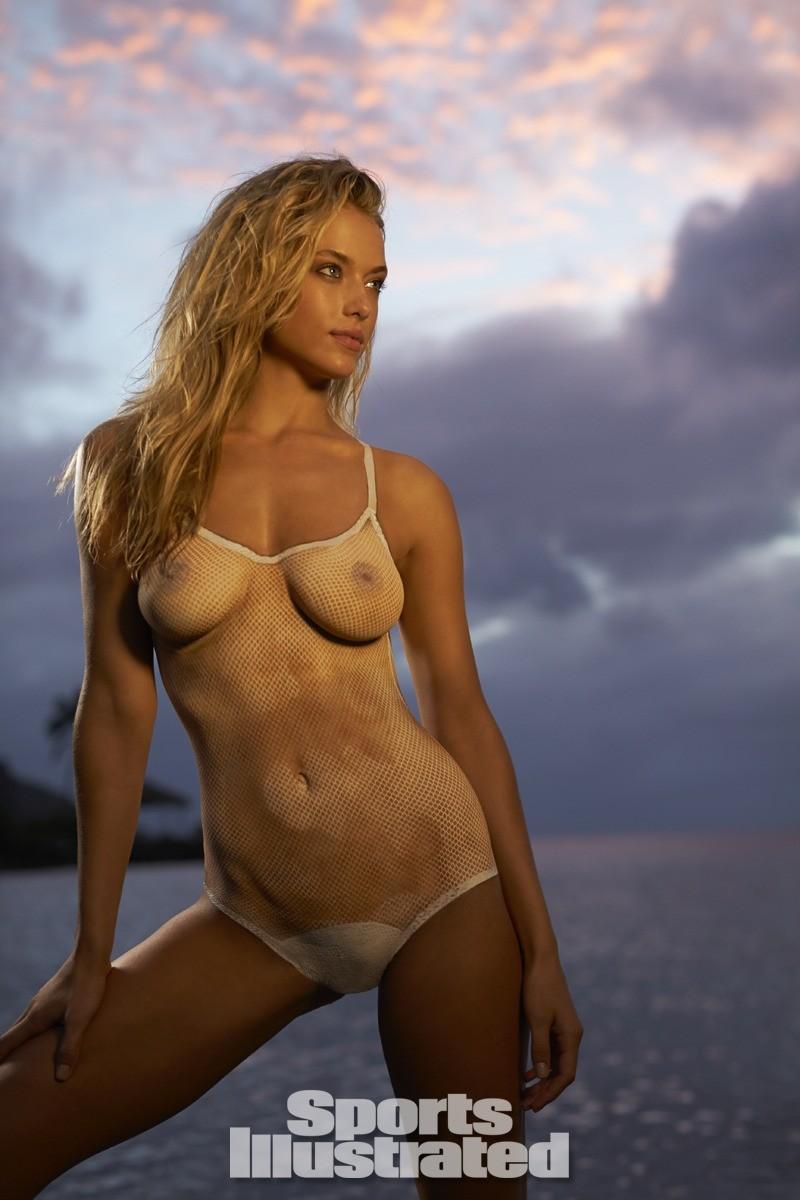 Hannah Ferguson 2014 Swimsuit body paint 18