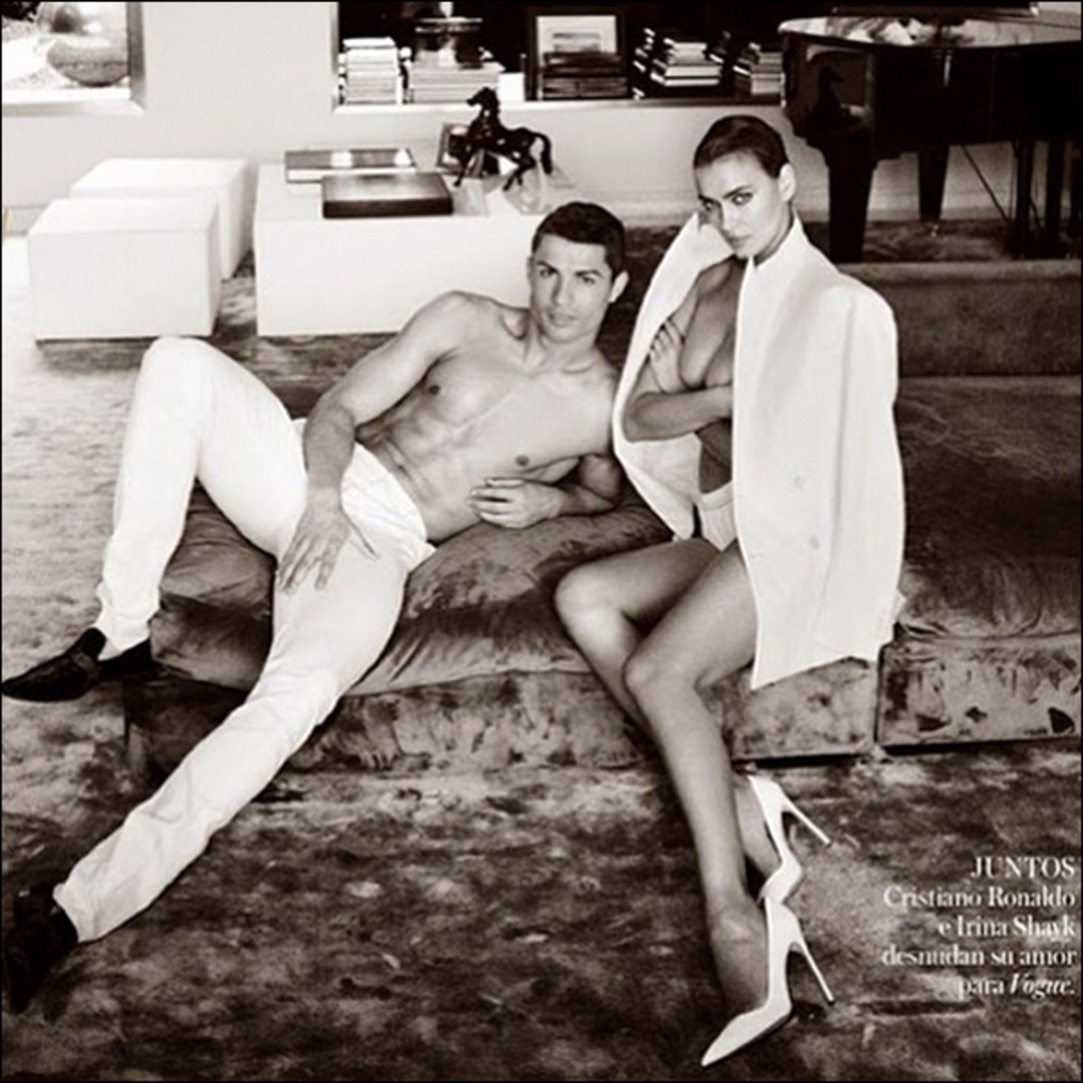 Cristiano Ronaldo and Irina Shayk :: Mario Testino for Vogue España