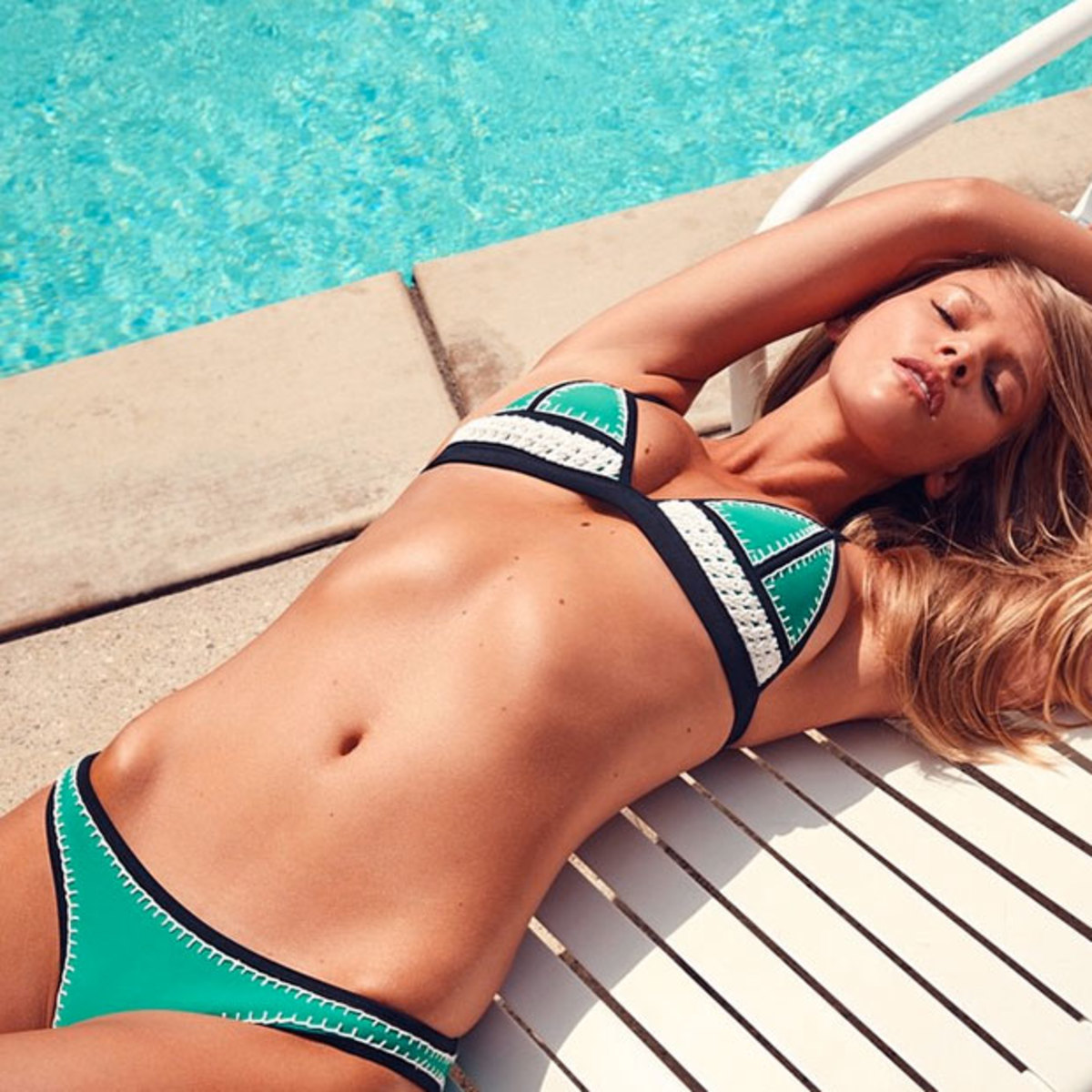 The FARRAH Bikini: Triangl's Latest Collection Neoprene + Crochet @marloeshorst wears 'Wild Thing' Shop the 3 Colors | Online Now