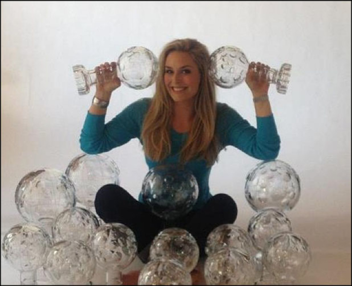 @lindseyvonn: #tbt me and almost all of my globes :)