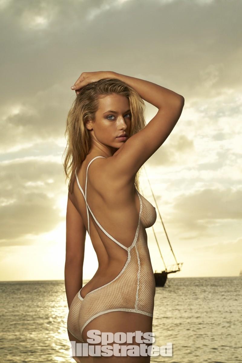 Hannah Ferguson 2014 Swimsuit body paint 9