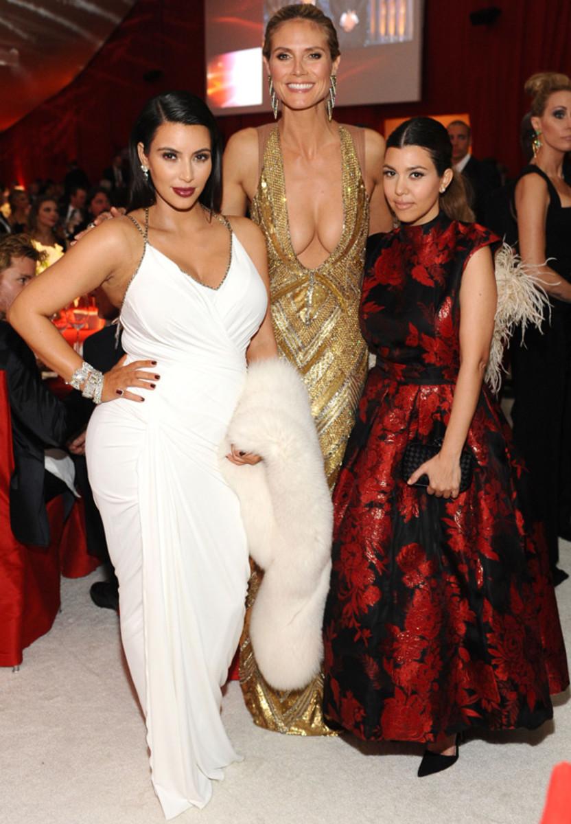 Kim Kardashian, Heidi Klum and Kourtney Kardashian :: Dimitrios Kambouris/Getty Images