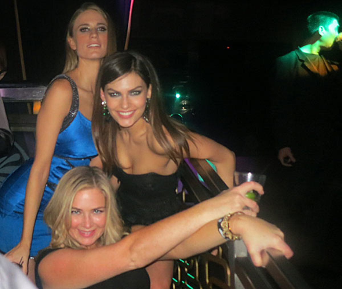 Julie Henderson, Alyssa Miller and MJ Day :: Andy Gray/SI