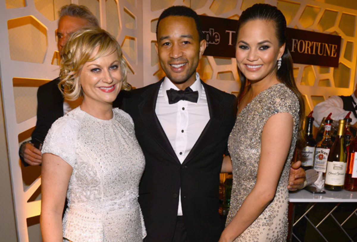 Amy Poehler, John Legend and Chrissy Teigen :: Larry Busacca/Getty Images