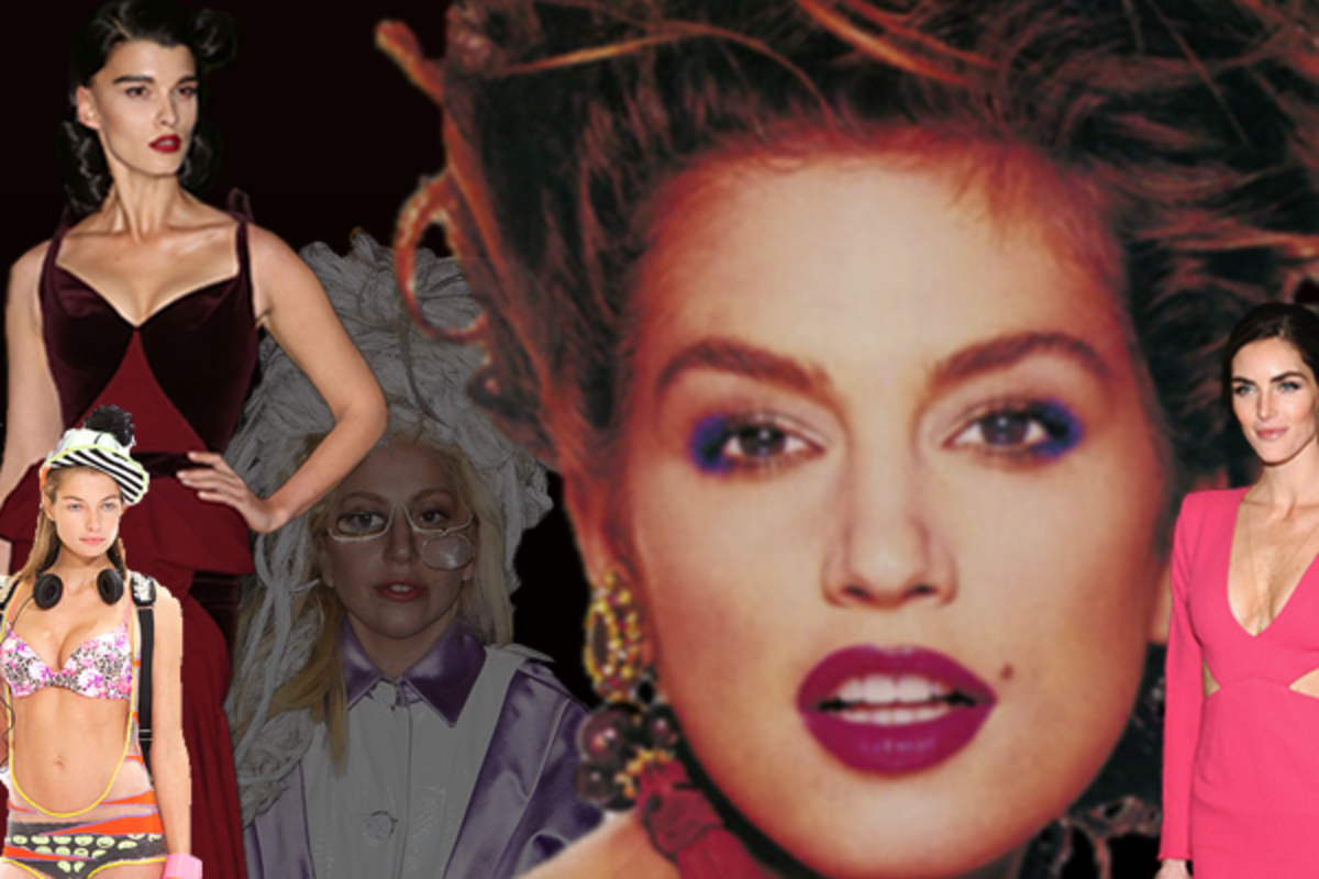 Jessica Hart :: Kathleen Kamphausen for Cosmo | Crystal Renn :: Monica Schipper/FilmMagic | Lady Gaga :: Ray Tamarra/Getty Images | Cindy Crawford :: Revlon, 1989 | Hilary Rhoda :: Gary Gershoff/WireImage