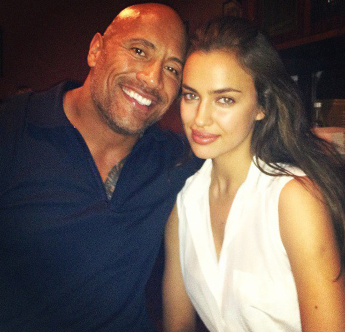 The Rock and Irina Shayk :: @irinashaykofficial
