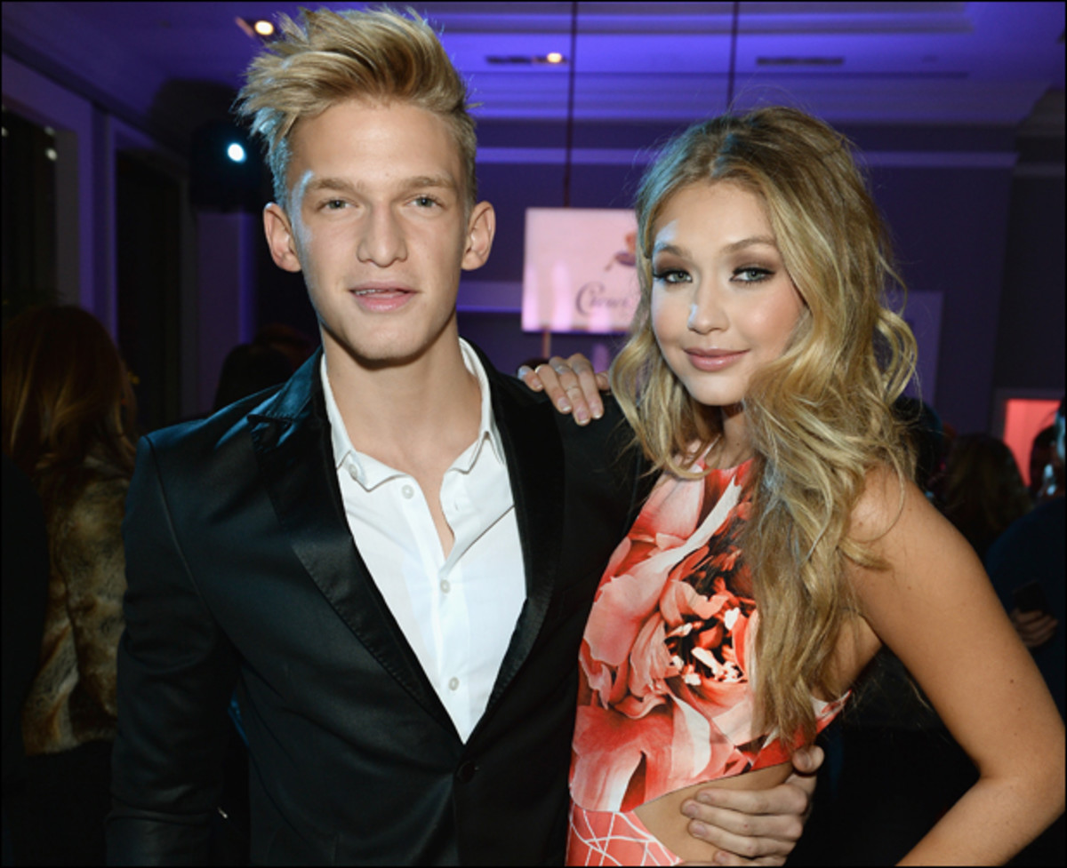 Cody Simpson and Gigi Hadid at the SI Swimsuit Launch Party in NYC :: Getty Images for Sports Illustrated