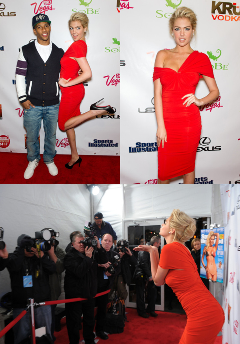 Clockwise from top left (with Victor Cruz): FilmMagic (2); Getty Images