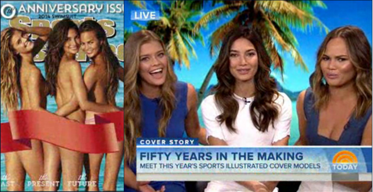 Nina Agdal, Lily Aldridge and Chrissy Teigen on TODAY