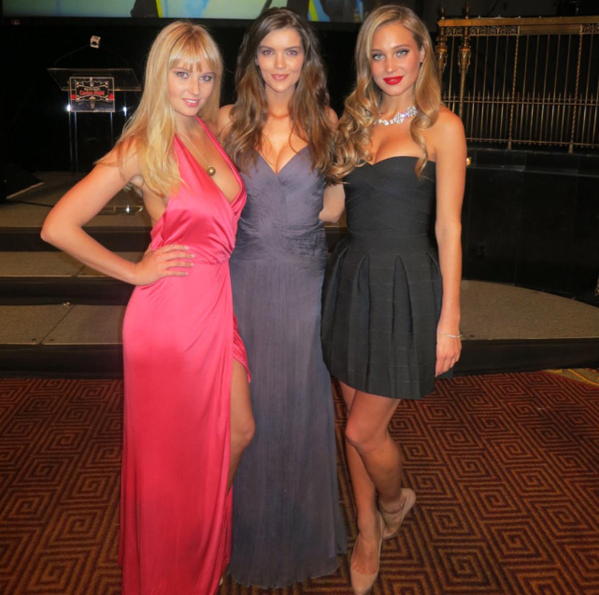 Genevieve Morton, Natasha Barnard and Hannah Davis