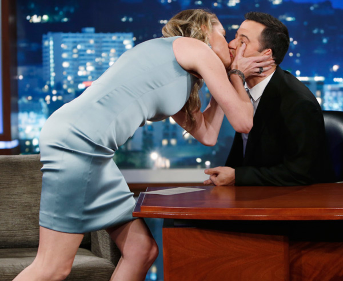 Rebecca Romijn and Jimmy Kimmel :: Randy Holmes/Getty Images